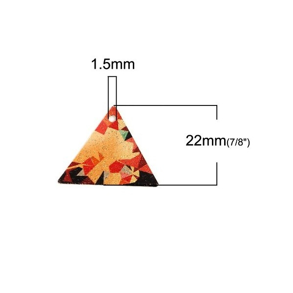 PS110100830 PAX 5 pendentifs breloques stardust Triangle style Tableau - Photo n°3