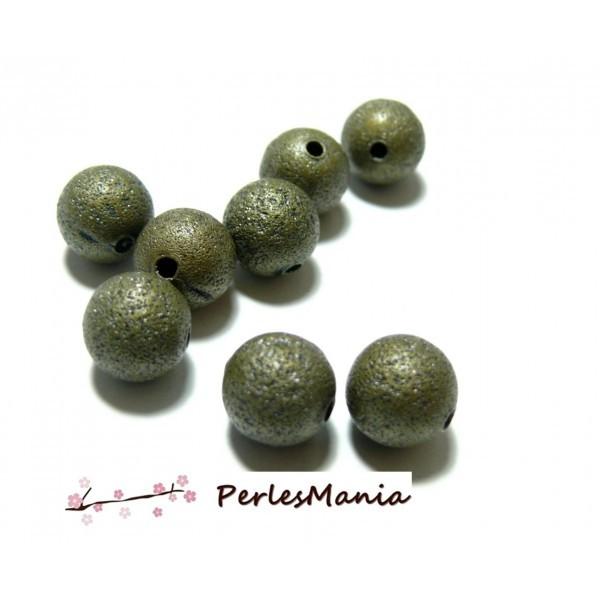 H24811 PAX 50 perles intercalaires stardust granitees paillettes 6mm Laiton coloris Bronze - Photo n°1