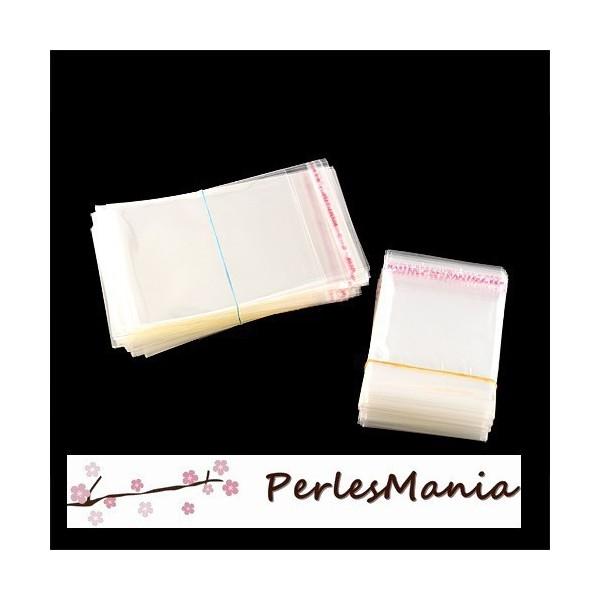 PAX 200 sachets adhesif autocollant transparents 10 par 7cm HR002 - Photo n°1