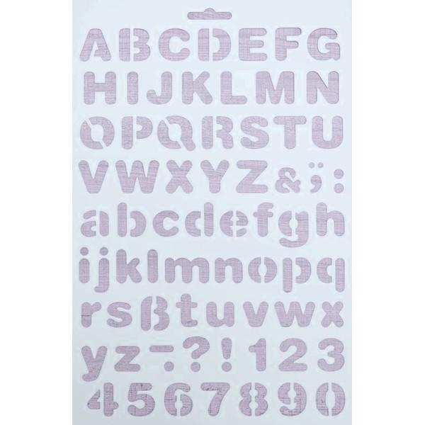 POCHOIR PLASTIQUE 30*21cm : Alphabet (13) - Photo n°1