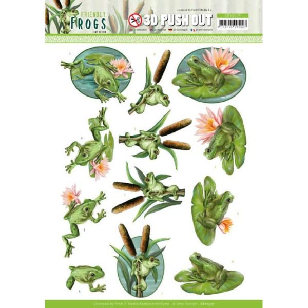 Carte 3D prédéc. - SB10525 - Friendly frogs - Grenouilles d'étang - Photo n°1