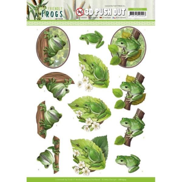 Carte 3D prédéc. - SB10523 - Friendly frogs - Grenouilles dans l'arbre - Photo n°1