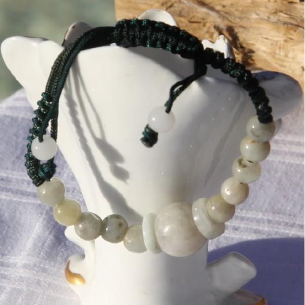 Bracelet réglable en jade - Photo n°2