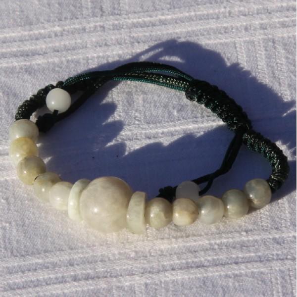 Bracelet réglable en jade - Photo n°3