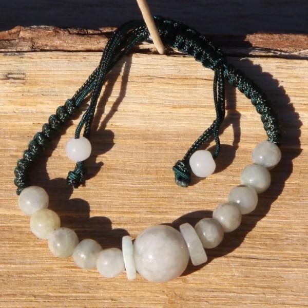 Bracelet réglable en jade - Photo n°1