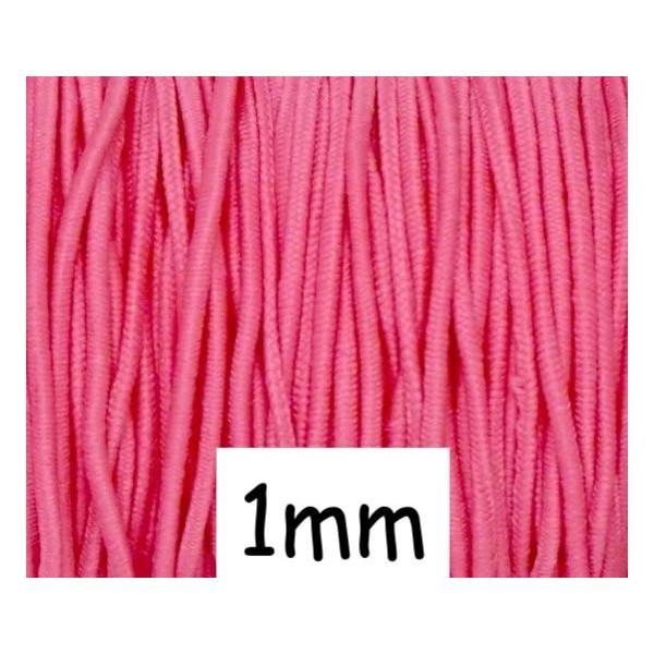 5m Élastique Rond Rose Lumineux 1mm - Photo n°1
