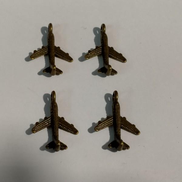 Breloque, 4 avion de chasse pour vous défendre, en laiton, 2 cm - Photo n°1