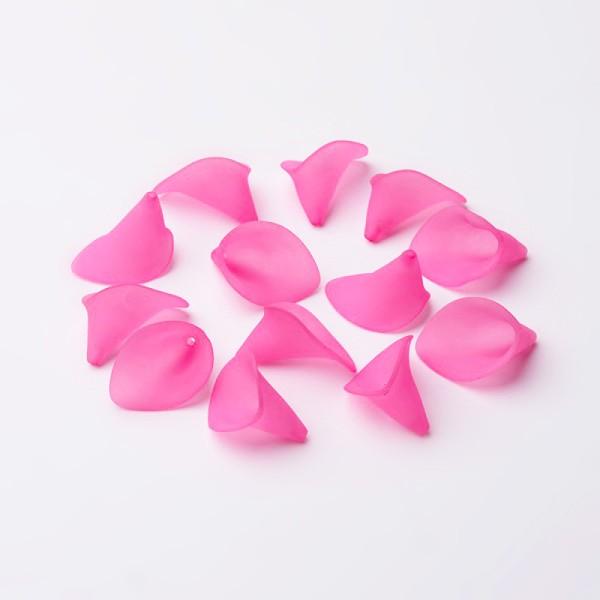 Coupelles fleur acrylique givré 20 mm fuchsia x 10 - Photo n°2