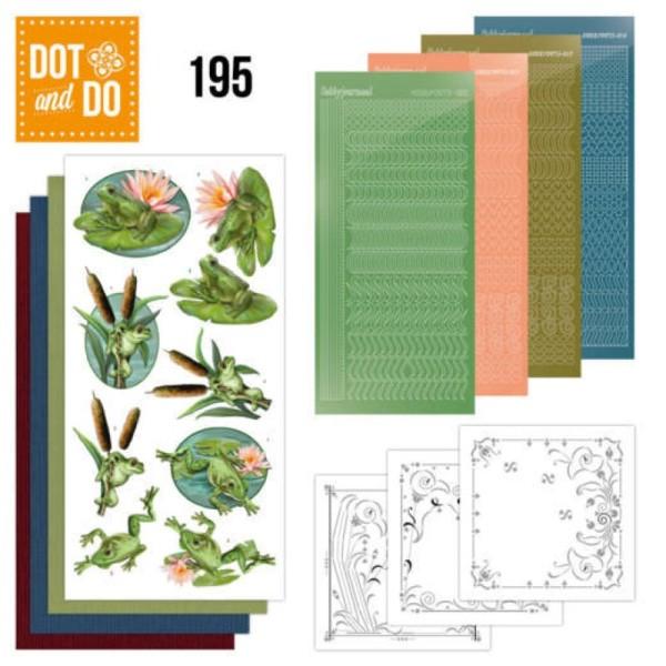 Dot and do 195 - kit Carte 3D - Grenouilles - Photo n°1