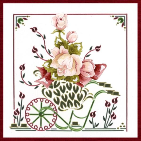 Dot and do 196 - kit Carte 3D - Fleurs roses - Photo n°2