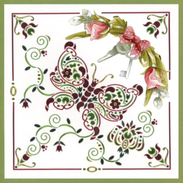 Dot and do 196 - kit Carte 3D - Fleurs roses - Photo n°3