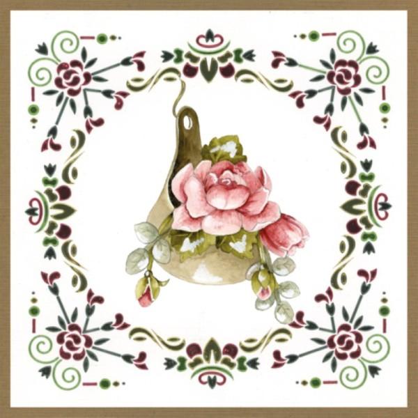 Dot and do 196 - kit Carte 3D - Fleurs roses - Photo n°4