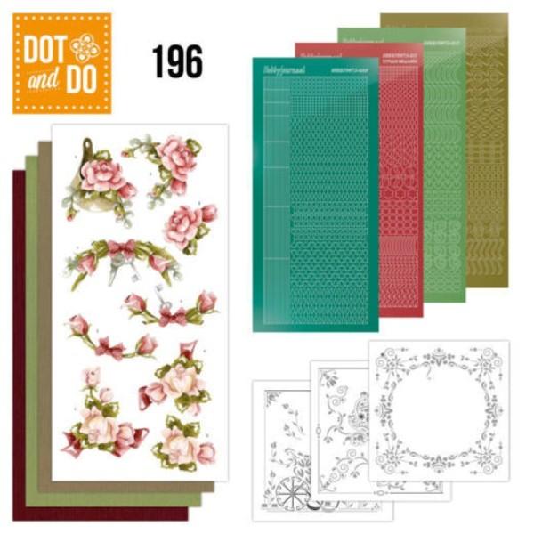 Dot and do 196 - kit Carte 3D - Fleurs roses - Photo n°1