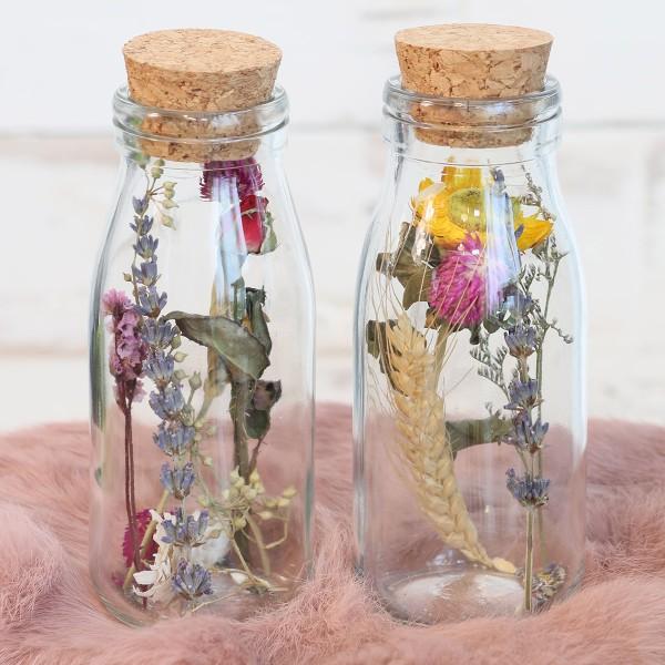 Bouteille décorative Fleurs séchées - 14 x 6 cm - 1 pce - Photo n°4