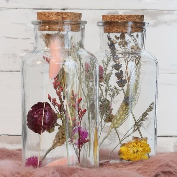 Bouteille décorative Fleurs séchées - 16 x 8 cm - 1 pce - Photo n°3