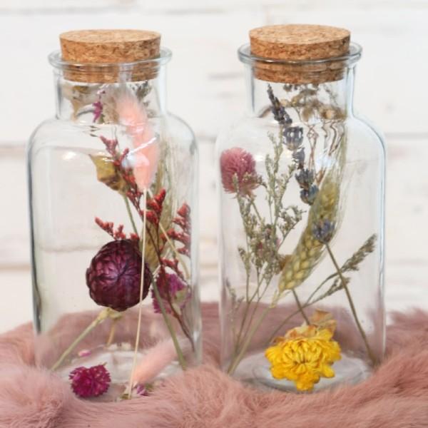 Bouteille décorative Fleurs séchées - 16 x 8 cm - 1 pce - Photo n°4