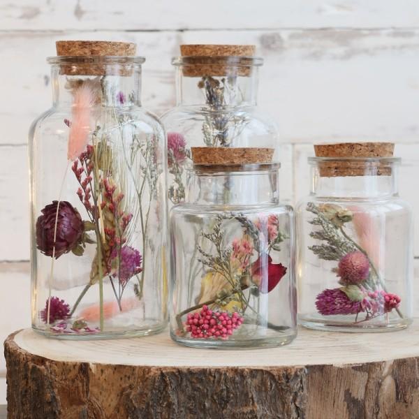 Bouteille décorative Fleurs séchées - 16 x 8 cm - 1 pce - Photo n°5