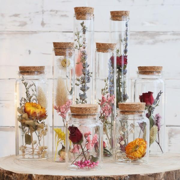 Pot en verre décoratif Fleurs séchées - 7,5 x 4,5 cm - 1 pce - Photo n°4