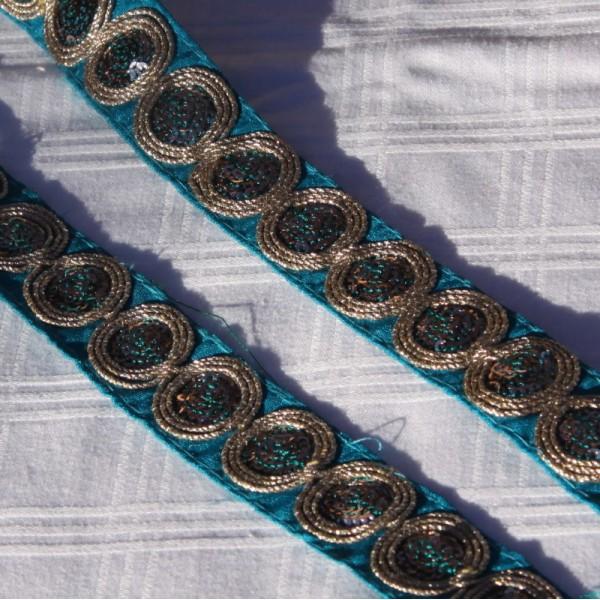 Galon bleu de 26 mm de large - Photo n°2