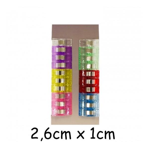 20 Pinces À Tissus, Clip Pour Couture 2,6cm X 1cm - Petite - Remplace Les Épingles Pour La Couture - Photo n°1