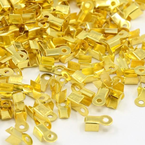 Embouts serre fil doré 9 x 3.5 mm doré x 50 - Photo n°1
