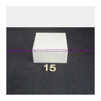 Support Carré H. 10 cm, 9 largeurs au choix, Dummy polystyrène épaisseur 10 cm