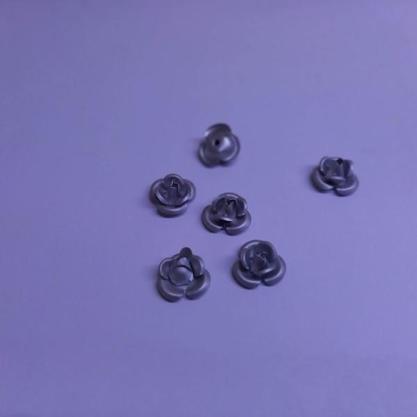 Six perles en forme de rose, 1cm - Photo n°1