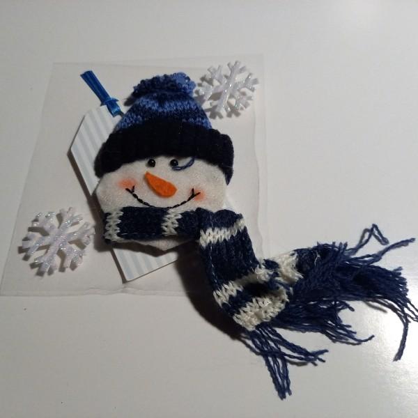 Stickers décoration de noel , nounours bonhomme de neige - Photo n°1
