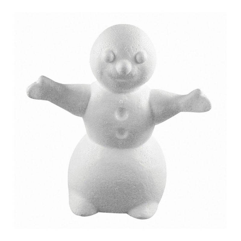 Bonhomme de neige avec bras tendus en polystyr ne haut - Bonhomme de neige polystyrene ...