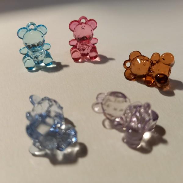 Cinq perles en petit nounours - Photo n°1