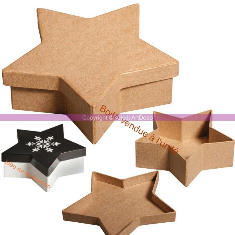 boite forme etoile 5 branches avec couvercle en carton fsc recycl 100 13x13x4cm boite en. Black Bedroom Furniture Sets. Home Design Ideas