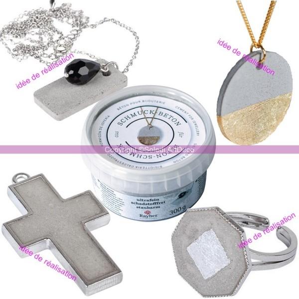 Béton créatif fin pour bijoux, 300gr, Masse de moulage en béton extra-fin - Photo n°2