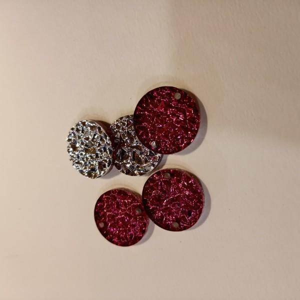 Accessoire bijoux ronde - rose 22mm - Photo n°1