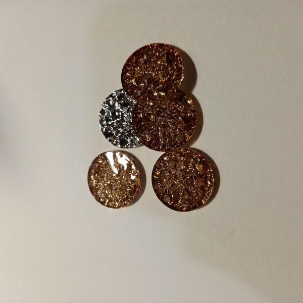 Accessoire bijoux ronde - doré 22mm - Photo n°1