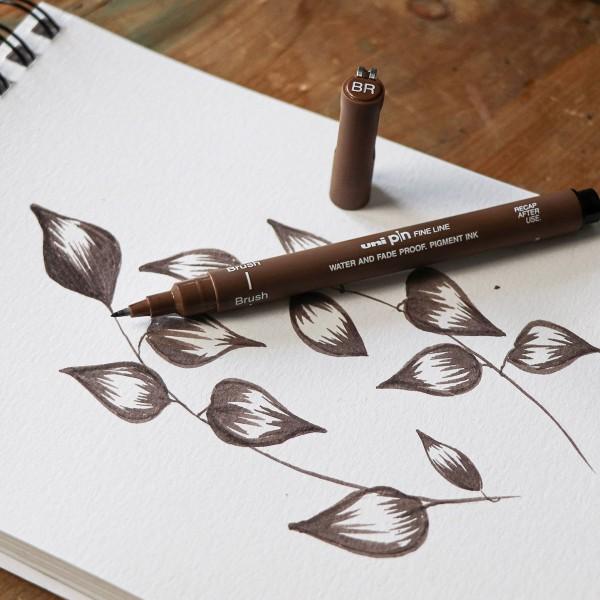 Pochette feutres techniques - Hand Lettering - Coloris assortis - 5 pcs - Photo n°3