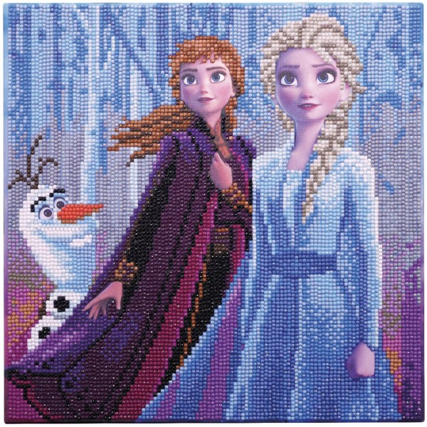 Kit Crystal Art Disney - Tableau La reine des neiges - 30 x 30 cm - Photo n°2