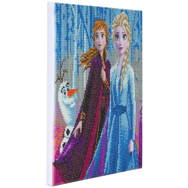 Kit Crystal Art Disney - Tableau La reine des neiges - 30 x 30 cm - Photo n°5