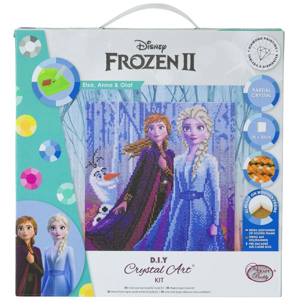 Kit Crystal Art Disney - Tableau La reine des neiges - 30 x 30 cm - Photo n°1
