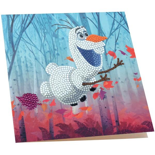 Kit Crystal Art Disney - Carte Olaf - 18 x 18 cm - Photo n°2