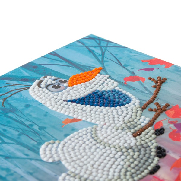 Kit Crystal Art Disney - Carte Olaf - 18 x 18 cm - Photo n°3