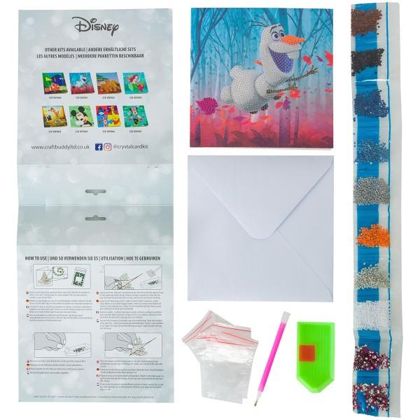 Kit Crystal Art Disney - Carte Olaf - 18 x 18 cm - Photo n°4