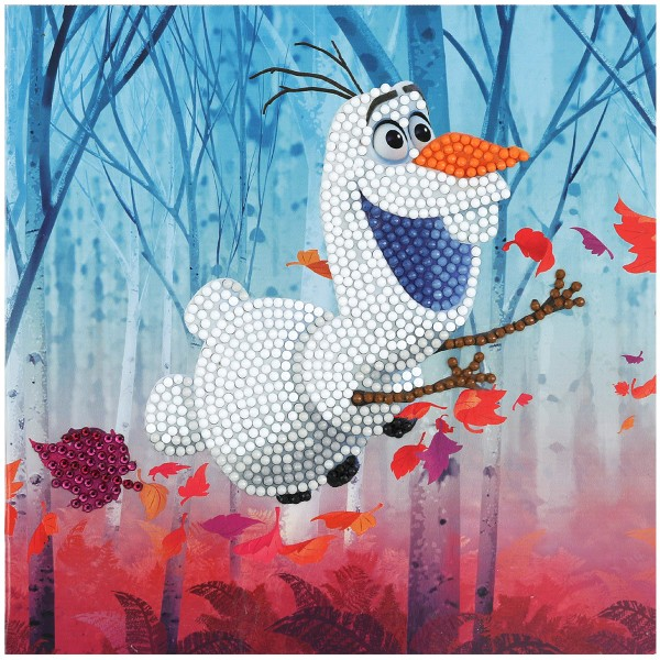 Kit Crystal Art Disney - Carte Olaf - 18 x 18 cm - Photo n°5