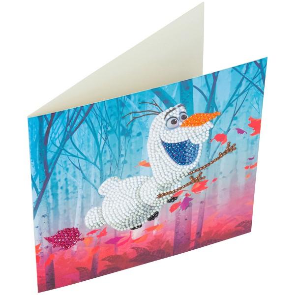 Kit Crystal Art Disney - Carte Olaf - 18 x 18 cm - Photo n°6