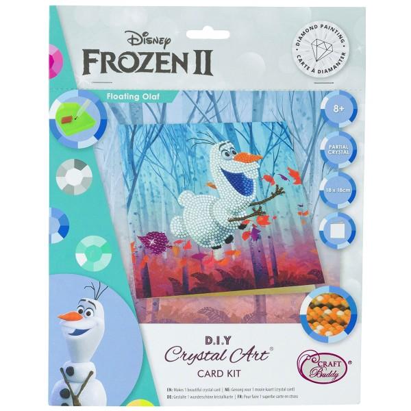 Kit Crystal Art Disney - Carte Olaf - 18 x 18 cm - Photo n°1