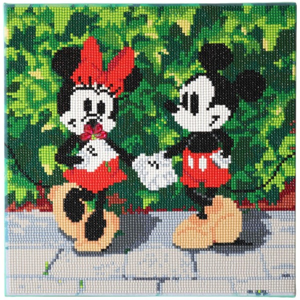 Kit Crystal Art Disney - Tableau Mickey & Minnie - 30 x 30 cm - Photo n°2