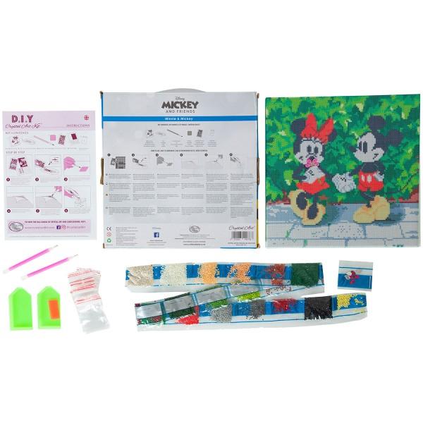 Kit Crystal Art Disney - Tableau Mickey & Minnie - 30 x 30 cm - Photo n°4
