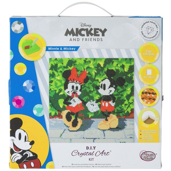 Kit Crystal Art Disney - Tableau Mickey & Minnie - 30 x 30 cm - Photo n°1