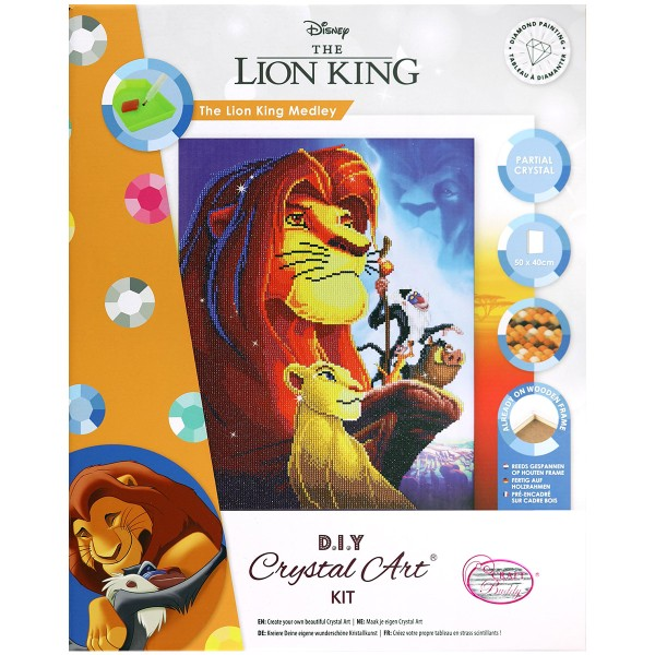 Kit Crystal Art Disney - Tableau Le Roi Lion - 40 x 50 cm - Photo n°1