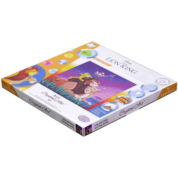 Kit Crystal Art Disney - Tableau Le Roi Lion - 30 x 30 cm - Photo n°6