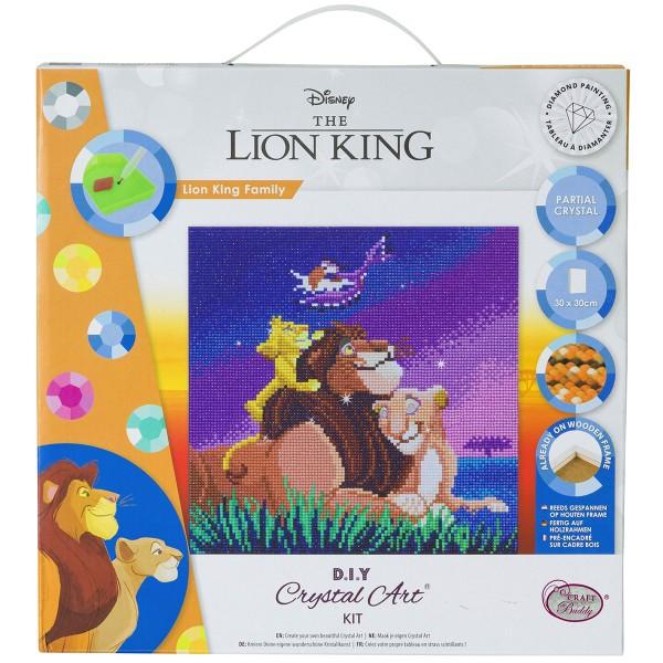 Kit Crystal Art Disney - Tableau Le Roi Lion - 30 x 30 cm - Photo n°1